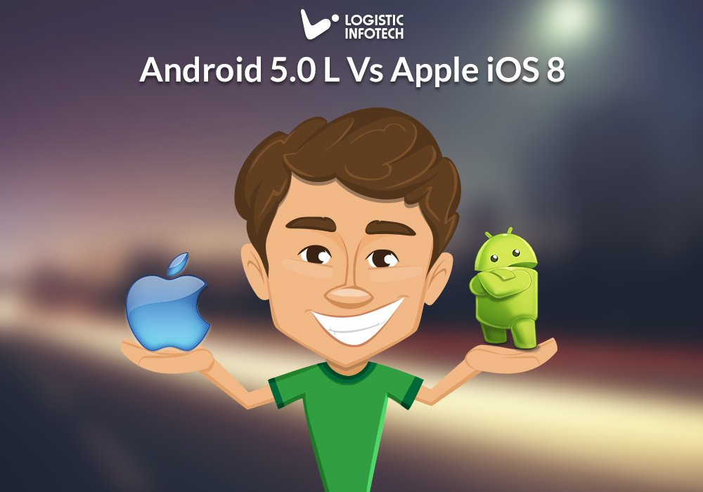 Android 5.0 L Vs iOS 8