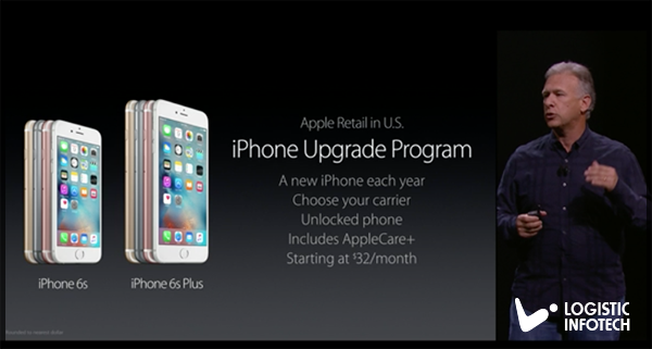 iPhone 6S and iPhone 6S Plus upgrade program by Logistic Infotech