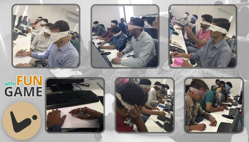 Blindfold Drawing Game_Logistic Infotech Pvt Ltd