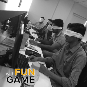 Logisticians Cracked The Laughter Ball By Playing Blindfold Drawing Game