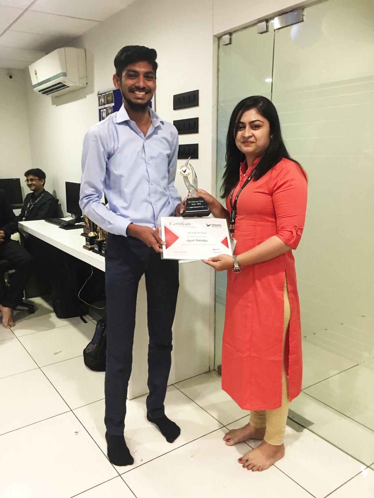 Achievement Award Logistic Infotech