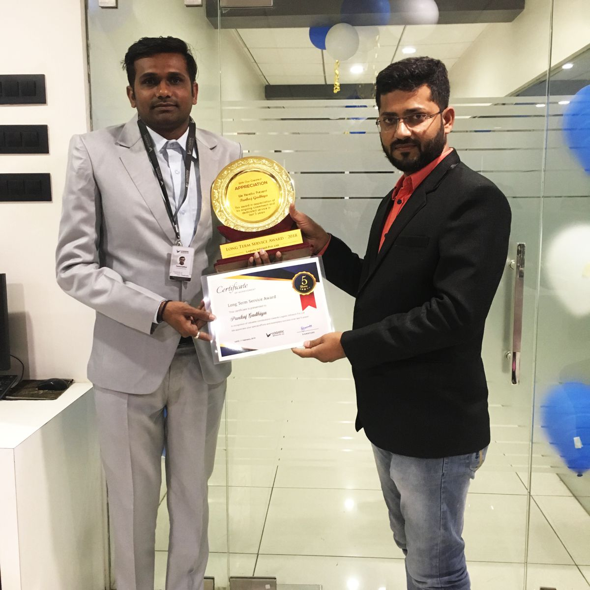 Long Term Achievement Award Logistic Infotech
