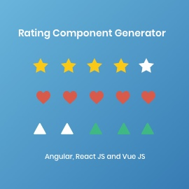 Rating Component Generator Angular Vue React